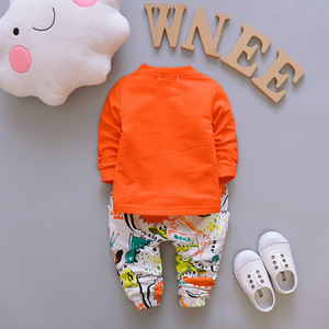 Image 4 - אביב סתיו תינוק בנים בנות סטי בגדי Cartoon חליפת ילדים רוכסן נים חולצה מכנסיים 3pcs ילדים כותנה אימוניות