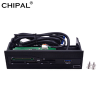 CHIPAL multifuncional todo en uno USB del Panel frontal 3,0 MS M2 CF XD lector de tarjetas TF SD 5,25