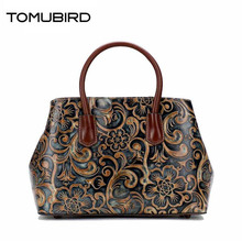 TOMUBIRD new original hand-embossed superior leather designer bag famous brand women bags genuine leather handbags shoulder tomubird new superior cowhide leather designer inspired flower ladies handmade leather tote satchel handbags