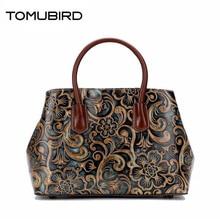 TOMUBIRD new original hand-embossed superior leather designer bag famous brand women bags genuine leather handbags shoulder