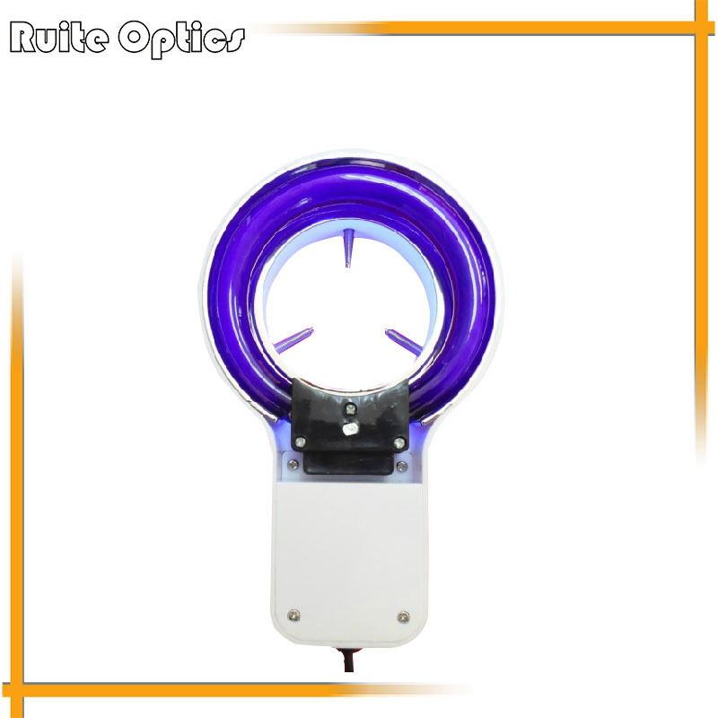Purple Light Microscope UV Ring Lamp Light 8W Fluorescent Light Source Money detector microscope ring light microscope d fluorescent lamp