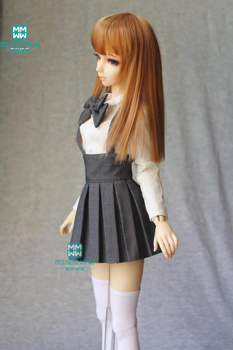 BJD pop kleding geschikt voor 1/3 BJD DD SD10 pop mode kwaliteiten plooirok Wijn rood zwart grijs kaki