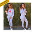 2016 new fashion womens sexy women 2 piece suits night club  slim tshirt ensemble  femme vestidos bodycon