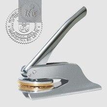 Droogstempel Custom Wedding Tafel Tang Seal Custom Logo Stempel Lederen