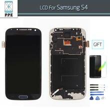 Tela de lcd para samsung galaxy s4 i9500 i9505 i337 pantalla lcd screen display toque digitador assembléia com frame + ferramentas