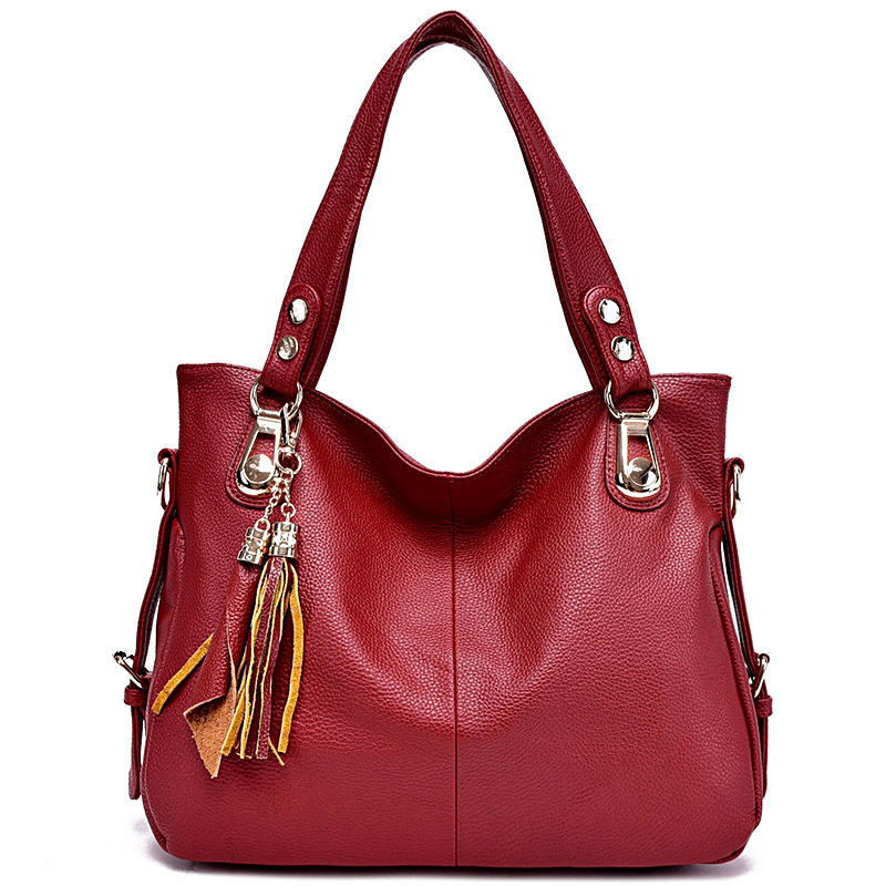 High Quality Hobos Women's Genuine Leather Handbags Shoulder CrossBody Bags Fashion Tassel Messenger Bags Women Bags Ladies maihui designer handbags high quality shoulder crossbody bags for women messenger 2017 new fashion cow genuine leather hobos bag