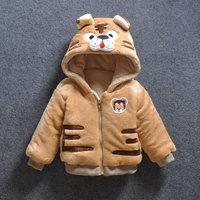 Baby Girl Boy Cartoon Tiger Down Hooded Jackets Cute Warm Winter Outerwear Newborns Coats Toddler Clothing