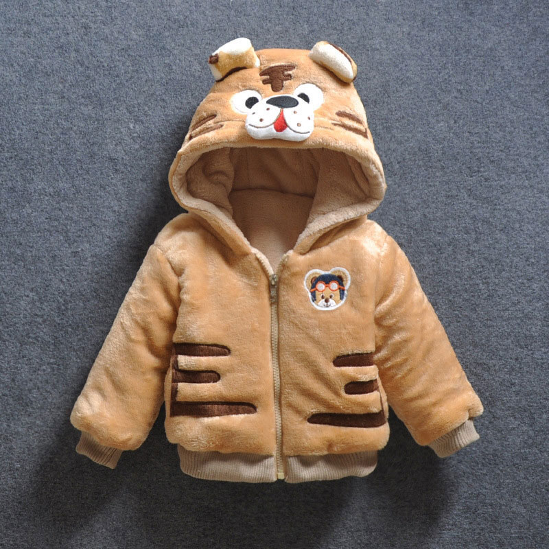 Baby Girl Boy Cartoon Tiger Down Hooded Jackets Cute Warm Winter Outerwear Newborns Coats Toddler Clothing Infant baby Clothes woolen kintted newborns baby boy clothing sets spring autumn warm fashion outerwear toddler clothes suit infant baby cloth 2017