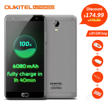 "Oukitel k6000 plus 4g handy 5,5 ""android 7,0 mtk6750t Octa-core 1,5 GHz 4 GB RAM 64 GB ROM 8.0MP + 16.0MP 6080 mAh Touch TD"