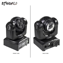 LED Mini Beam Double Sides 4x10W+1x10W Rotating Moving Head 15/21 Channel DMX512 Stage Effect Lighting Good For Event Party
