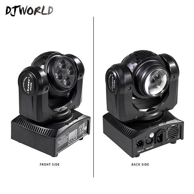 LED Mini Fascio Doppio Lati 4x10W + 1x10W Rotante In Movimento Testa 15/21 Canali DMX512 effetto di fase di Illuminazione di Buona Per Il Partito di Evento