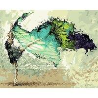 Dekoracje Ścienne Zdjęcia bezramowe Malowanie Numerami Ręcznie Malowane Na Płótnie Zdjęcia Dekoracji Streszczenie tancerze płótnie malarstwo