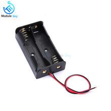AA Size Power Bank Battery Storage Box Holder Leads With 2 Slots Container Bag DIY Batteries Charging With Lead Wire(China)