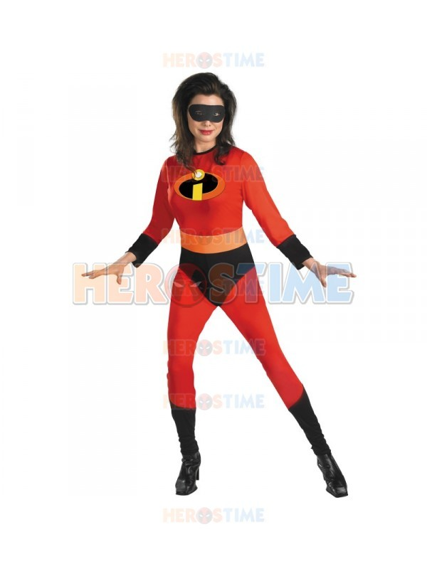 (SUP185) The Incredibles Mrs Incredible Costume Halloween party costumes Lycra Spandex Zentai Cosplay Bodysuit