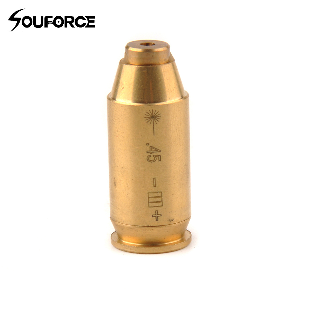 CAL.45 ACP Red Caliber Cartridge Laser Boresighter .45 Laser Bore Sighter Brass Gun Accessory for Hunting Free Shipping
