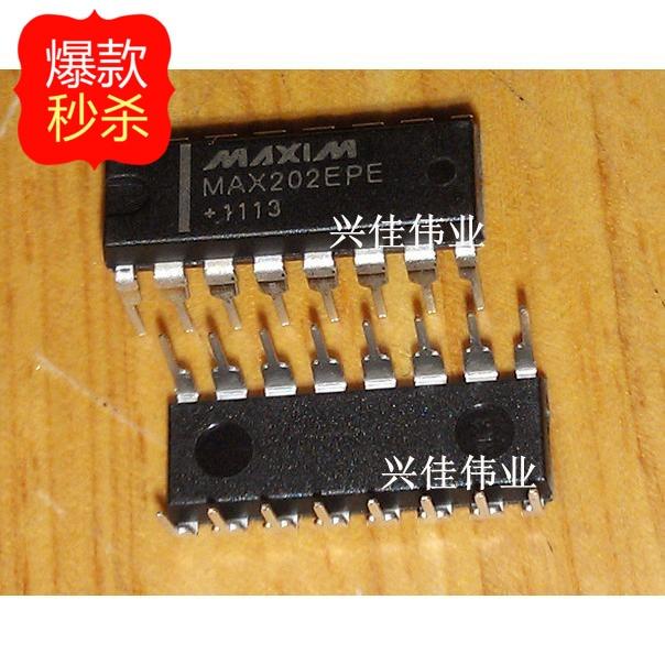 5V RS-232 Transceivers with 0.1uF External Cap. 5 PCS MAX202CWE WSOP-16 MAX202