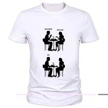 Funny Geeks Dating Manga Printed T-Shirt Science geek design t shirts The Big Bang men/Women Brand cartoon T-shirt 59-16#