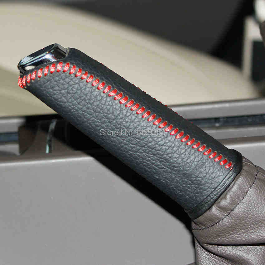 Case For Buick New Regal 2013 Handbrake Cover Car Styling Genuine Leather Handbrake Protection DIY Auto Interior Decoration