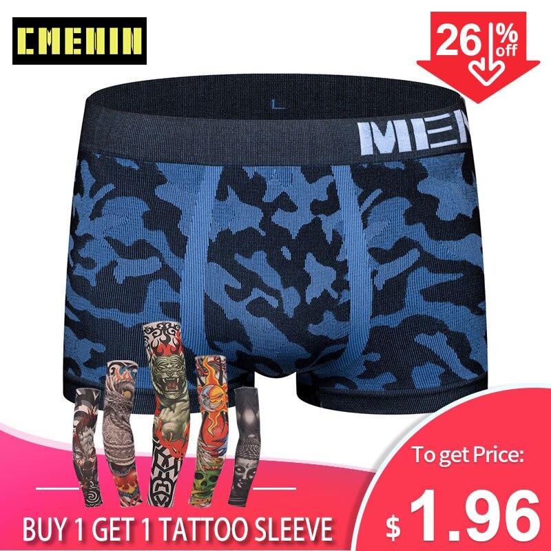 Men Underwear Boxer Shorts Sexy Men's Underwear Boxers Panties Seamless Lingerie Camouflage Underpants Under Wear Bikini M0039