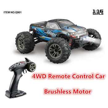 52km/h High Speed 2.4G 4WD 1:16 Remote Control Rc Racing Car with Brushless motor and led light RC Drift toy RTR Gifts image
