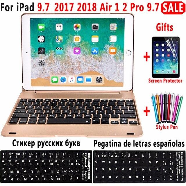 Складной ноутбук дизайн Беспроводной покрытие клавиатуры Bluetooth для Apple iPad 9,7 2017 2018 5th 6th поколения iPad Air 1 2 5 6 iPad Pro 9,7 чехол