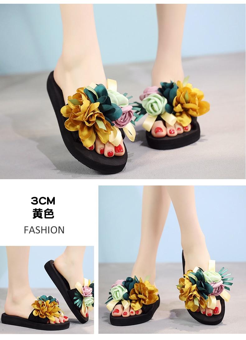 5c98dfb6e Womens Slippers Fashion Flower DIY Personalized Flip Flops Beach ...