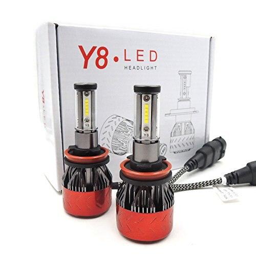 2 шт./лот H11 H8 H9 светодиодные лампы для фар 160 Вт 6000 К белый Дальний свет/ближний свет 4 боковые чипы CSP 360 градусов авто фары