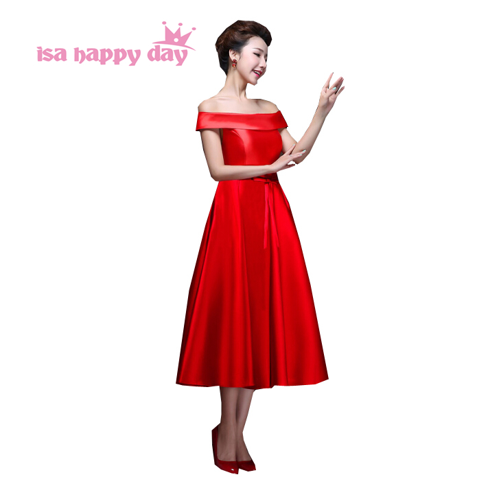 Bal De Promo courses Nouveau sur mesure rouge bandeau Demoiselle D/'honneur Mariage Invité