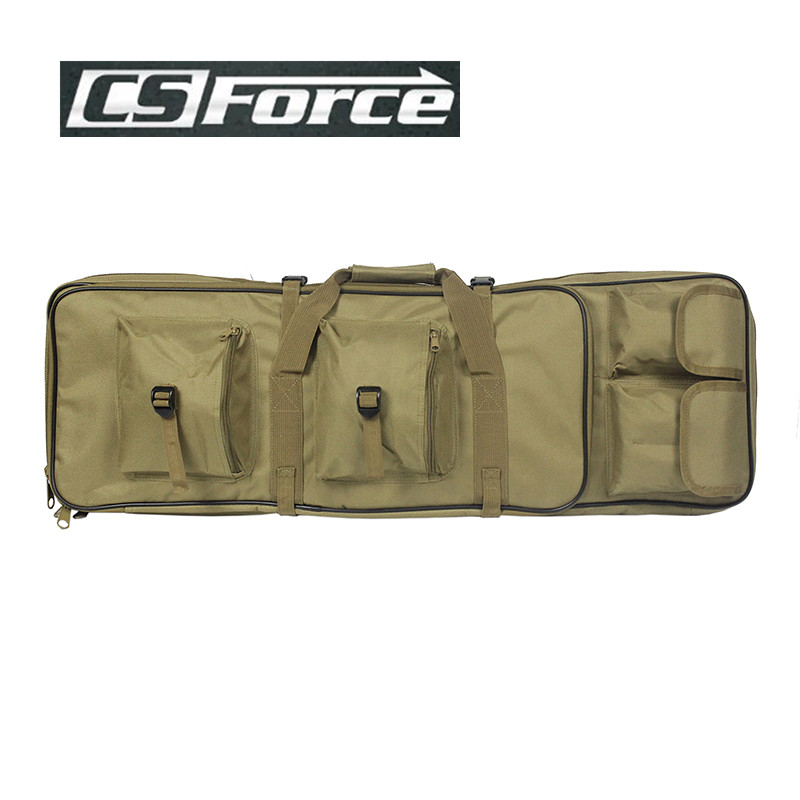 CS Force 85CM Heavy Duty Gun Carry Bag Rifle Case Shoulder Backup Pouch For Hunting Dual Rifle Bag With Shoulder Strap tactical 1m heavy duty gun carrying bag with shoulder strap 600d waterproof paded rifle gun case bag for carbine shotgun bag