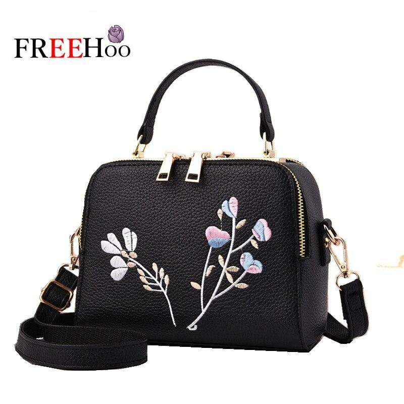 2017 moda de Nueva marca diseño bordado de la flor señora Hombro Oblicuo bolsas