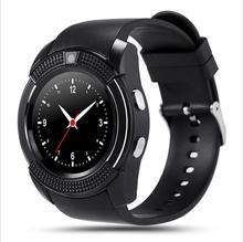 2016 V8สมาร์ทนาฬิกานาฬิกาที่มีซิมช่องเสียบการ์ดTFการเชื่อมต่อบลูทูธสำหรับA Pple Ip Honeโทรศัพท์A Ndroid SmartwatchนาฬิกาPK DZ09