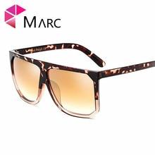 MARC UV400 WOMEN MEN sunglasse Plastic Gradient Oculos eyewear Gafas Sol AC Rectangle Pink Square Mirror
