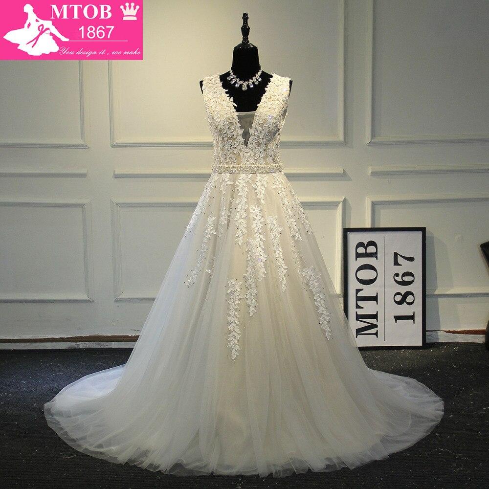 Fashionable Sexy Prom Dresses 2017 V-Neck Leaf Lace vestido de festa Party vestido de festa Evening Dresses MTOB1006