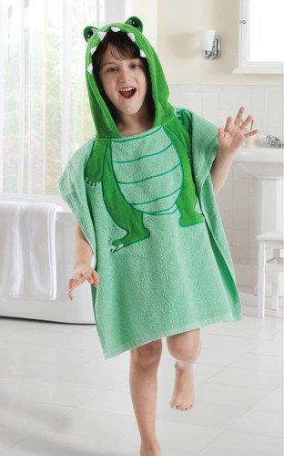 5 видов конструкций детский халат с капюшоном/детское полотенце/модель ing полотенца с фигурками животных/детский банный халат/детское банное полотенце - Цвет: dino