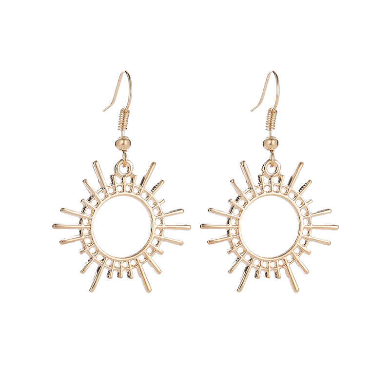 Новый дизайн, Золотые серьги для женщин, ассиметричные серьги, индийские ювелирные изделия в стиле бохо