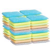 20 Pcs Multi Function Magic Sponge Eraser Cleaner Colorful Cleaning Sponges Kitchen Bathroom Random Color L50