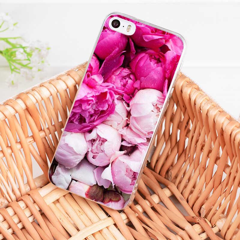 MaiYaCa ため iphone 7 6 × 花牡丹花瓶電話ケース iphone 11 プロマックス 8 7 6 6S プラス X 5S 、 SE