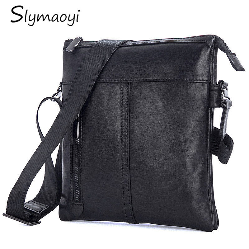 Slymaoyi Men Bags Messenger-Bag Crossbody-Shoulder-Bag Genuine-Leather Hot-Sale Male