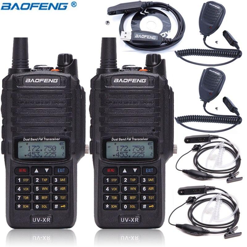 2pcs BaofengUV XR Walkie Talkie 10W High Power 4800Mah Battery IP67 Waterproof Dual Band Handheld Two