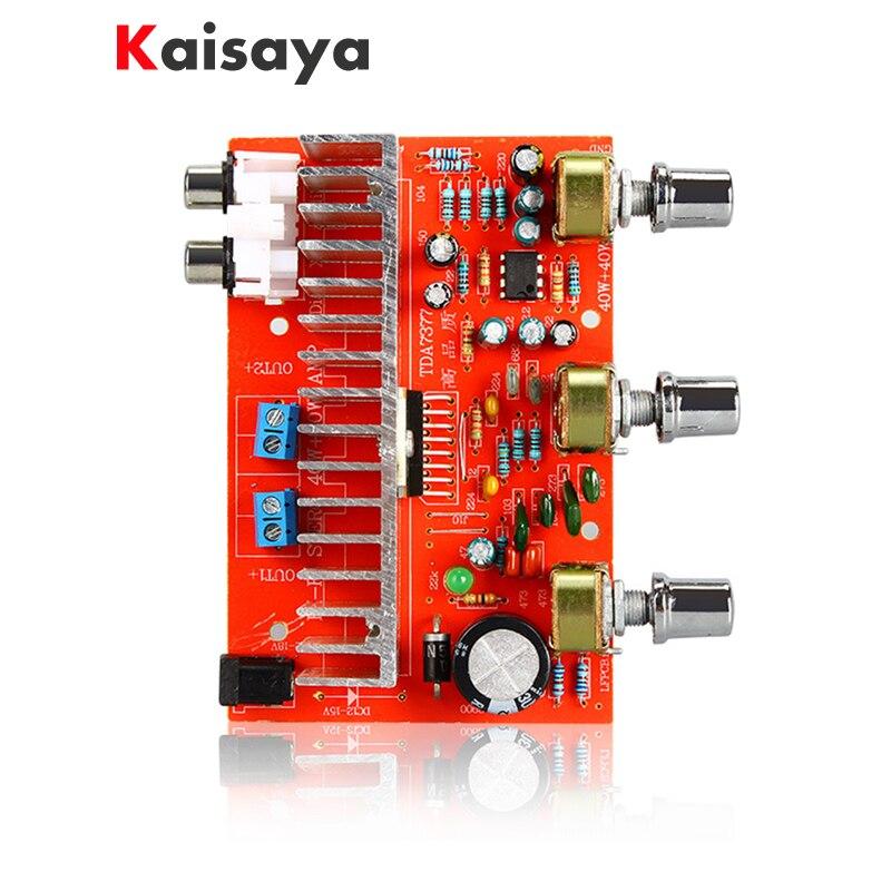 Nueva placa de Amplificador de Audio 12 V TDA7377 40 W + 40 W 2,0 canal Amplificador estéreo para altavoz de estantería de 3 pulgadas 6 DIY E5-005