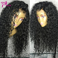 Silk Base kinky Curly Wig Human Hair Full Lace Wigs Brazilian Virgin Hair Glueless Silk Top Lace Front Curly Wigs With Baby Hair