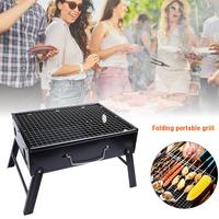 Outdoor Camping Portable Folding Barbecue Rack Grill Wire Meshes Oven Charcoal Grill BBQ Tools For Family Party Outdoor Travel
