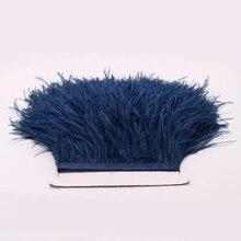 adornos de plumas de avestruz real avestruz de alta calidad para la falda / vestido / traje de plumas de avestruz recorte al por mayor