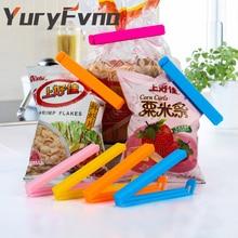 YuryFvna סט של 6 שקית קליפ צבעים מעורבים פלסטיק מזון חטיף אחסון אטימה איטום קליפ Clamp אוטם תיק קליפ אטימה קליפ מזון