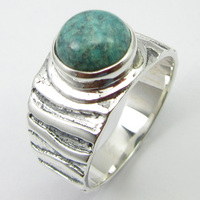 Silver Turquoises December Birthstone Ring Sz 7 Handmade Gift Unique Designed