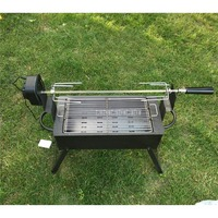 Iron Metal Foldable BBQ Grill Electric Charcoal Grill Automatic Flip Barbecue Stove for Outdoor Picnic Garden Party Roasting
