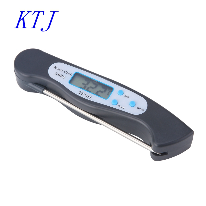 Foldable Digital Meat BBQ Thermometer Folding Food Oven Probe -50C-300C Kitchen Temperture Meter Liquid Water Oil Cooking Tools