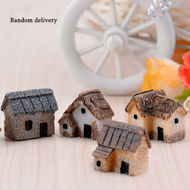 1pcs Vintage Artificial Pool Tower Miniature House Fairy Garden Home Decoration Mini Craft Micro Landscaping Decor 5