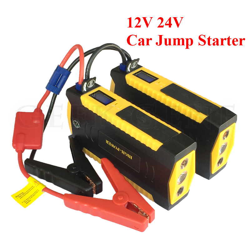 Super Petrol Diesel Starting Device 12V 24V Car Jump Starter Portable Power Bank Charger for Car Battery Starter Booster LED super power car jump starter power bank 11000 portable car battery booster charger 12v starting device petrol diesel car starter