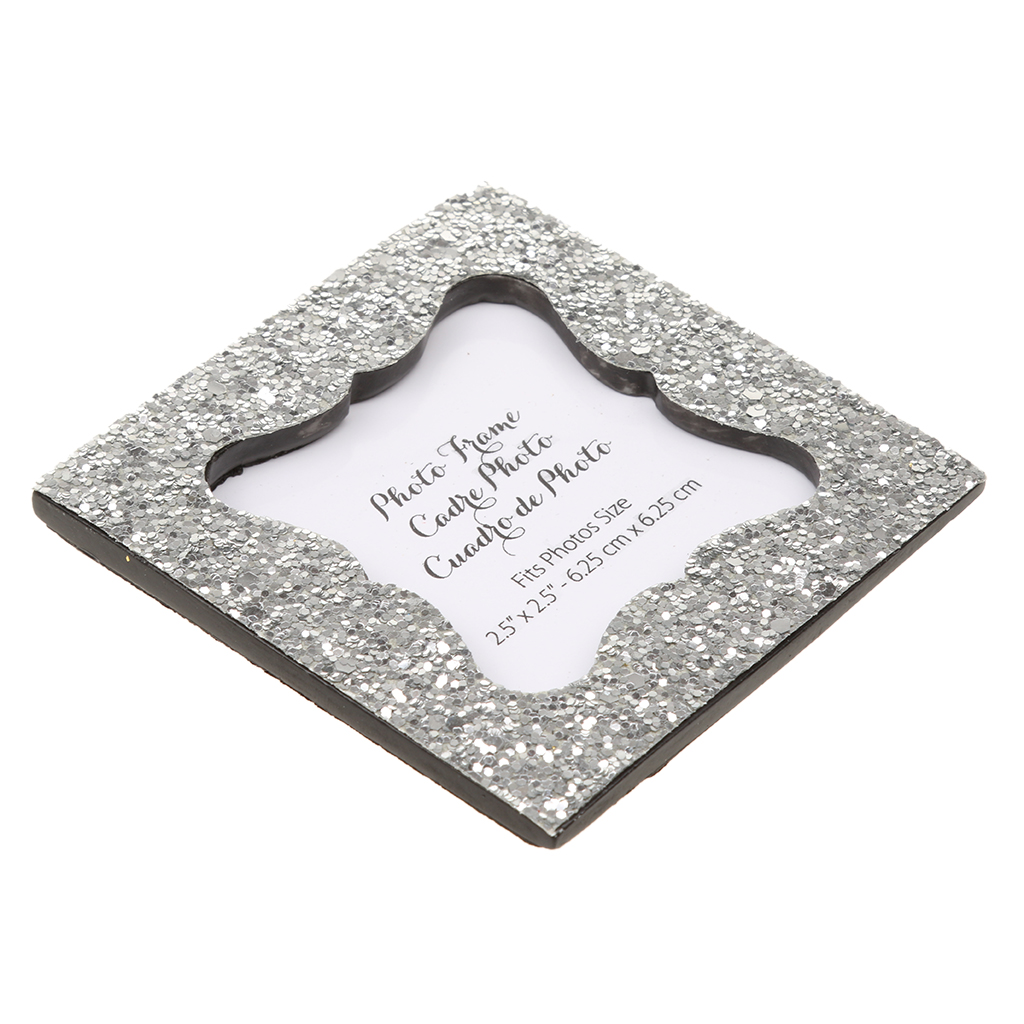 Silver Glitter Sequin Photo Frame Stand Picture Frame Wedding Favor Gift